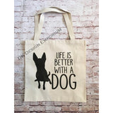 Life is Better With a Dog Canvas Tote Bag