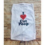 I Love Cat Poop Dog Shirt