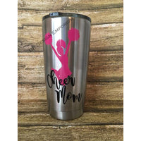 Cheer Mom 20oz Stainless Steel Insulated Tumbler