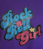 Rock and Roll Girl Fitted Women's Performance Tee - Darla Inspired Shirt