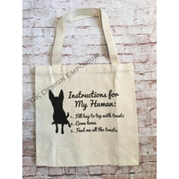 Dog Instructions Canvas Tote Bag