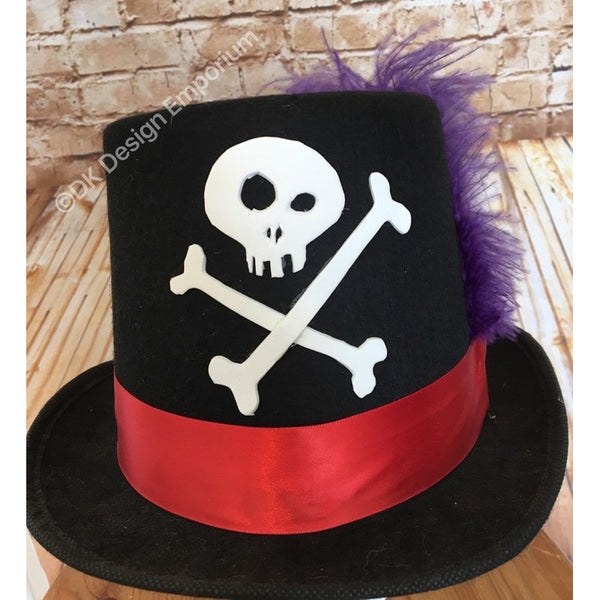 Shadowman Skull & Crossbones Top Hat
