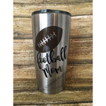Football Mom 20oz Stainless Steel Insulated Tumbler