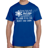 "Frozen Maelstrom Mashup T-Shirt - ""Face Peril & Danger"" Design"