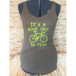 """It's a Good Day to Ride"" Cycling Tri-Blend Tank Top"