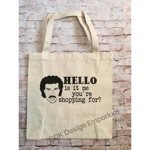 Hello Is it Me You're Shopping For Canvas Tote Bag