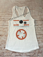 Orange Droid Running Costume Tank, BB-8 Inspired