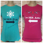 Set of Anna and Elsa Fitted Women's T-Shirts