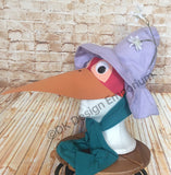 Fox Disguised as Stork Costume Hat