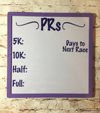 Purple and White Running PR Whiteboard