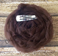 Tulle Princess Leia Buns Hair Clips, 1 Pair