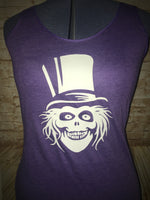 Glow in the Dark Hat Box Ghost Tri-Blend Women's Tank Top