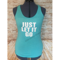 Just Let it Go Elsa Inspired Tank Top - Princess Slumber Party Top