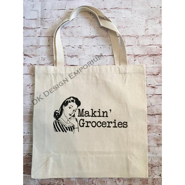 Makin' Groceries Canvas Tote Bag
