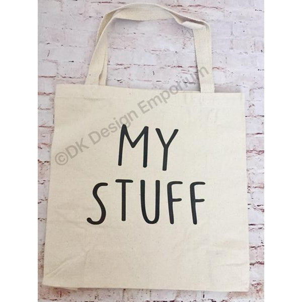 My Stuff Canvas Tote Bag