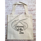 Narwhal Unicorns of the Sea Canvas Tote Bag