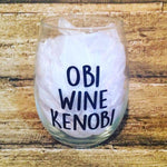Obi Wine Kenobi Stemless Wine Glass