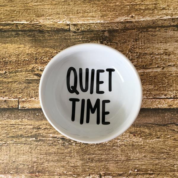 """Quiet Time"" Ceramic Hearing Aid Storage Dish"