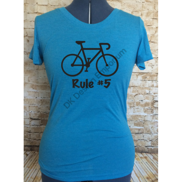 Cycling Rule #5 Fitted Women's Tee