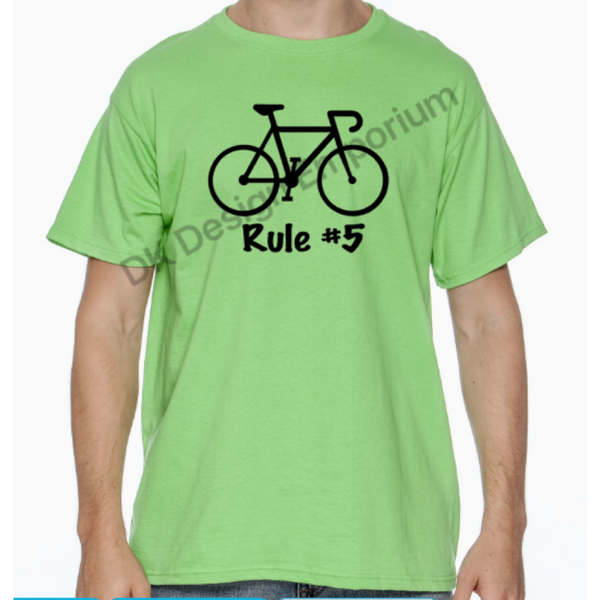 Cycling Rule #5 Unisex T-Shirt