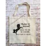 Be a Unicorn Canvas Tote Bag