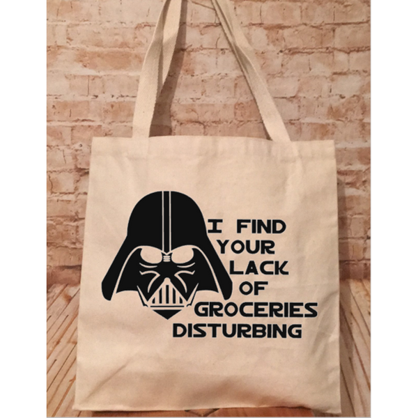 "Vader ""Lack of Groceries"" Canvas Tote Bag"