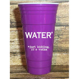 Water Just Kidding Booze Reusable Plastic Tumbler