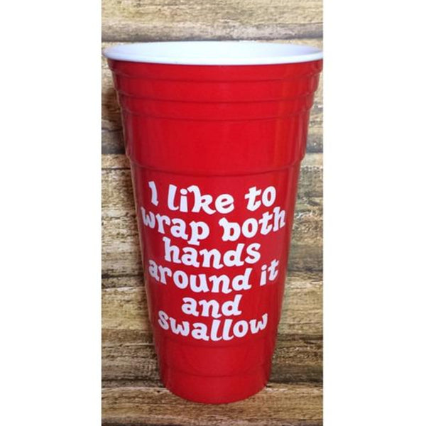 """I Like to Wrap Both Hands Around it"" Plastic Tumbler"