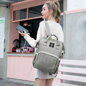 Lequeen USB Diaper Backpack