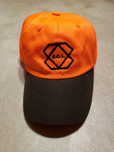Orange (Waxed Canvas Bill)  Hat