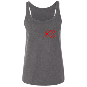 Red Logo  Ladies' Relaxed Jersey Tank