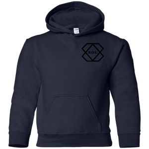 Black Logo Youth Pullover Hoodie
