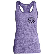 Load image into Gallery viewer, Black Label Ladies' Moisture Wicking Electric Heather Racerback Tank
