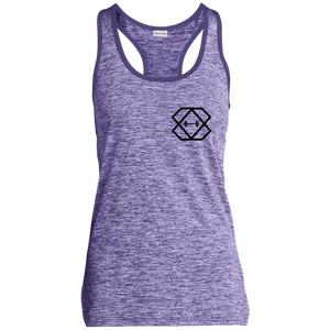 Black Label Ladies' Moisture Wicking Electric Heather Racerback Tank