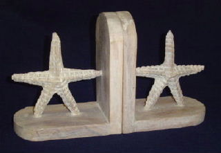Starfish Bookends, Whitewash-NAUTICAL BOOK ENDS..View All-Nautical Decor and Gifts