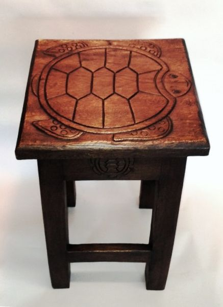 Turtle End Table, Stain - Free Shipping