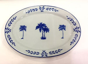 Oval Platter, Palm Trees