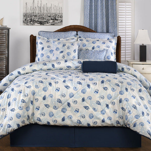Barbados King Comforter Set-Tropical Quilt Bedding-Nautical Decor and Gifts