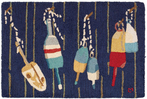 Buoys 2' x 3' Hooked Accent Rug