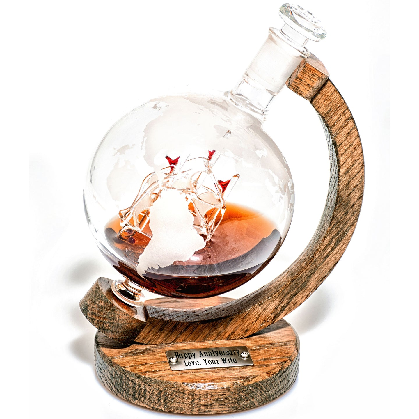 Globe Ship Whiskey Decanter