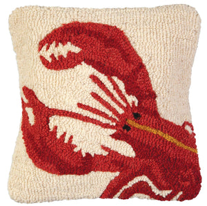"Red Lobster 14"" x 14"" Hooked Pillow"