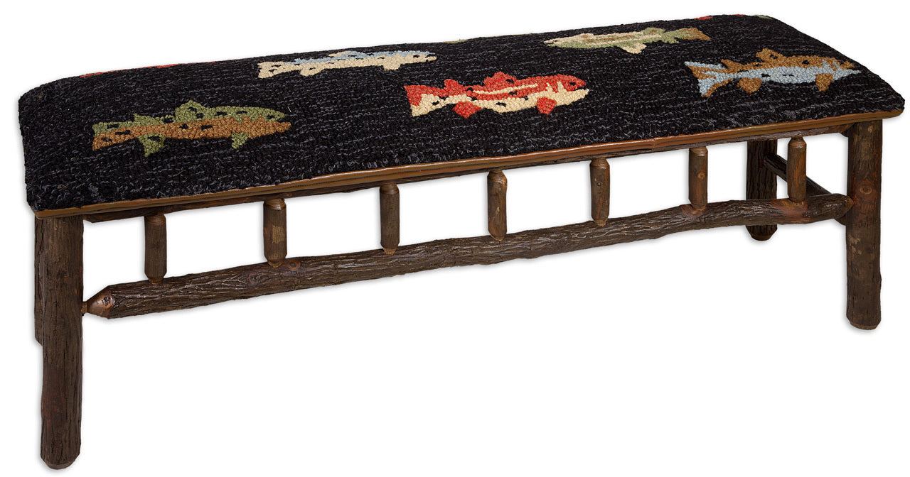 River Trout Bench-Coastal Living Furniture-Nautical Decor and Gifts