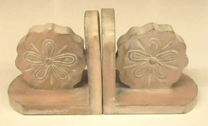 Sand Dollar Bookends - Pair-NAUTICAL BOOK ENDS..View All-Nautical Decor and Gifts