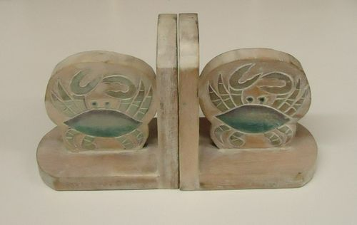 Crab Bookends-NAUTICAL BOOK ENDS..View All-Nautical Decor and Gifts