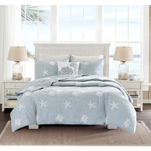 Seaside 4 Piece Coverlet Bedding-Nautical & Coastal Beach Bedding-Nautical Decor and Gifts