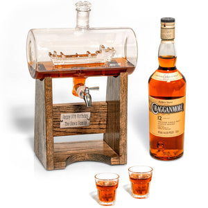 Military Ship Whiskey Decanter with Spigot