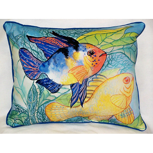 Two Fish Outdoor Pillow