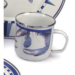 Blue Crab Enamel Dinnerware