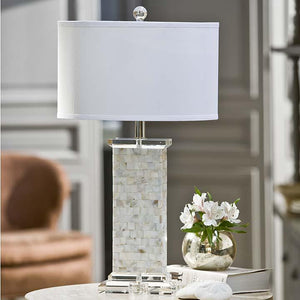 Mother Of Pearl Square Column Lamp
