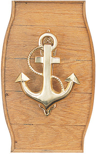 Brass Anchor Door Knocker-Nautical Decor and Gifts